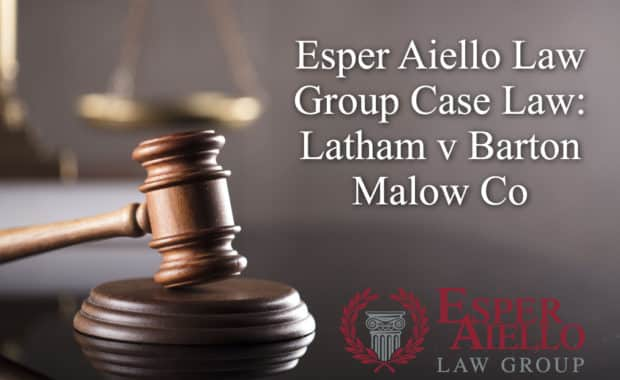 Esper Aiello Law Group Case Law: Latham v Barton Malow Co