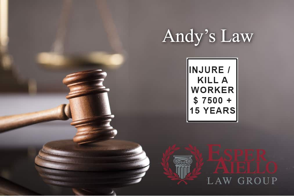 "Esper Aiello Law Group Represented Andrew Lefko and was Instrumental in ""Andy's Law"""