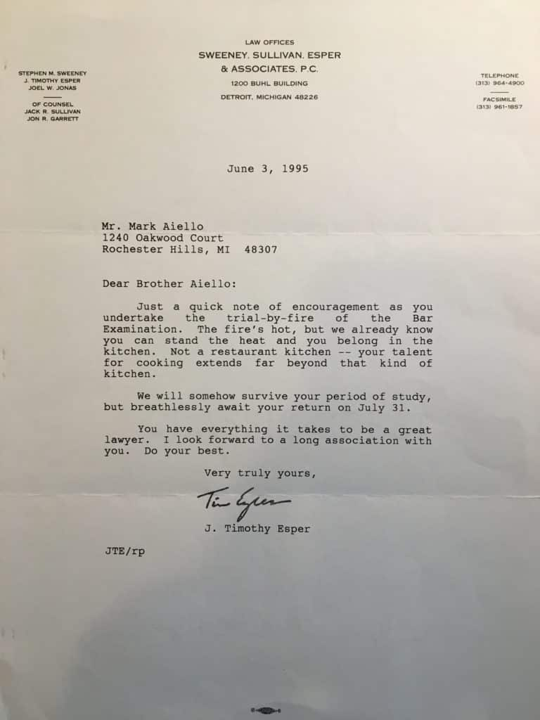 Letter of Encouragement from Tim
