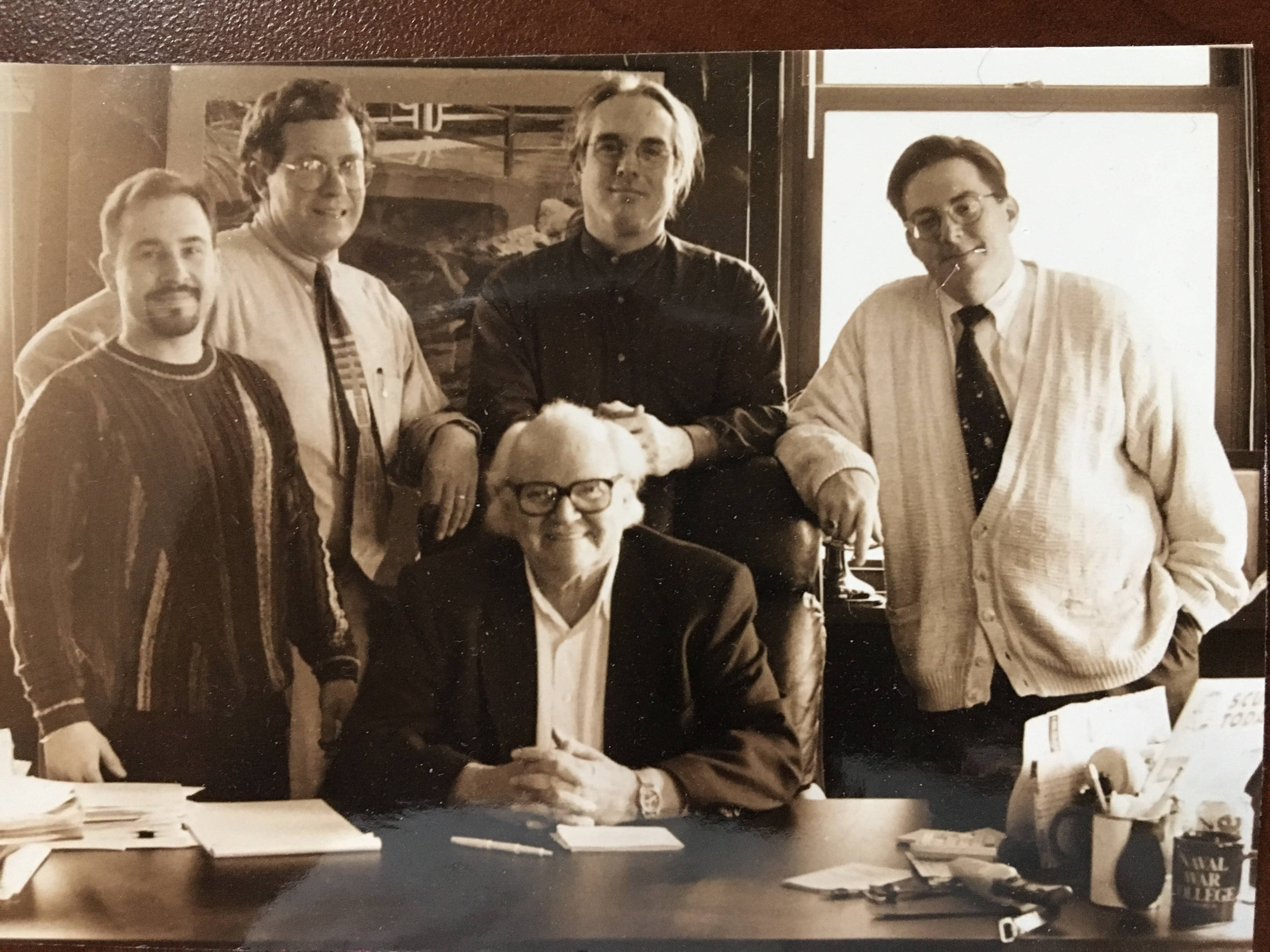 Mark Aiello, Tim Esper, Jon Garrett, John Maksym and seated Steve Sweeney
