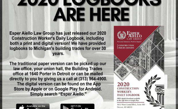 The 2020 Construction Workers' Daily Logbook is Now Available