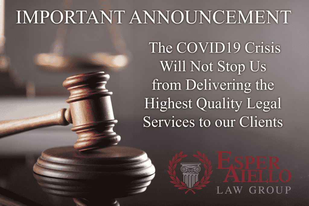 The COVID19 Crisis Will Not Stop Us from Delivering the Highest Quality Legal Services to our Clients